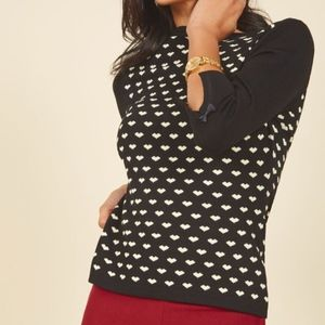NWT ModCloth Up to Parisienne Sweater sz S // M03
